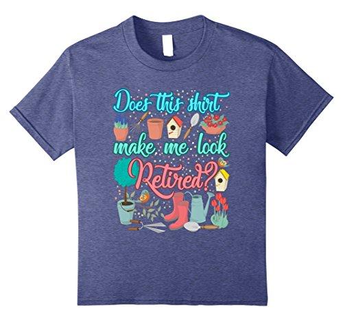 Kids Gardening Grandma Retirement Gifts For Mom T-Shirt 10 Heather Blue