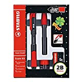 Stabilo Exam Grade Exam Kit, Retractable Pencil with 2b 2.0mm Lead Refill, Eraser, Sharpener