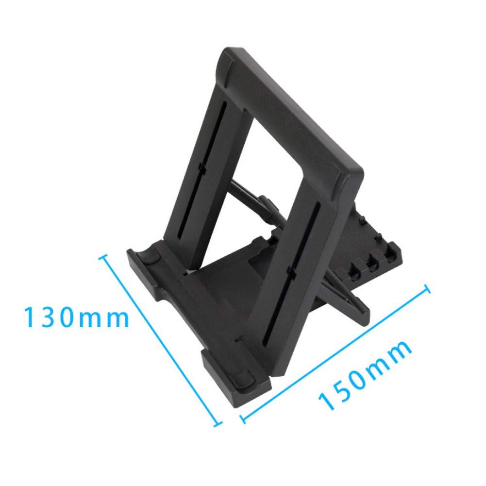 Tablet Stand Adjustable Laptop Stand with 5 Tilt Levels Anti Slip Pads Foldable Pocket Desktop Holder Cradle for Tablets Phone Black 1PC