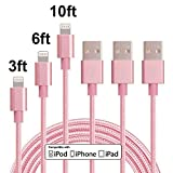iphone 5 cords cheap - iPhone Cable, MCUK 3Pack 3FT 6FT 10FT Lightning Cable Charging Cord Nylon Braided Apple USB Cable Data Sync Cable 8 Pin Cable for iPhone 6s, 6s plus, 6plus, 6,5s 5,iPad Mini, iPad5 (3FT+6FT+10FT)
