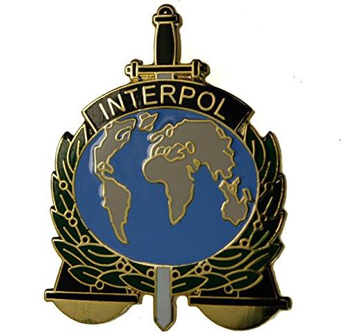 Police Hat Pin (Interpol International Criminal Police Organization ICPO Hat or Lapel)
