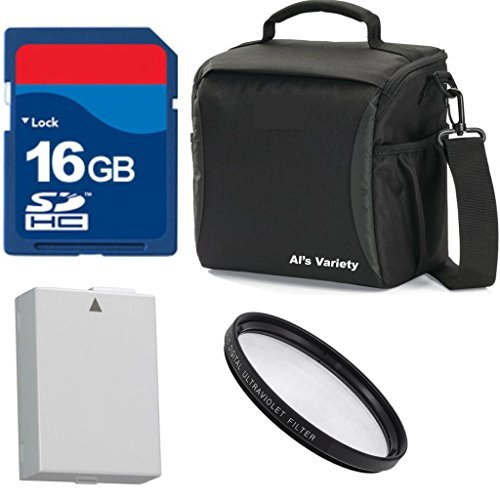 Al's Variety Premium Essential Kit For Canon Rebel T5i Camera with Canon 18-55mm Lens + Al's Variety Deluxe Gadget Bag + 16GB Bandwidth Memory Card + Lion Battery For Canon T5i + Top Value Bundle by ALS VARIETY