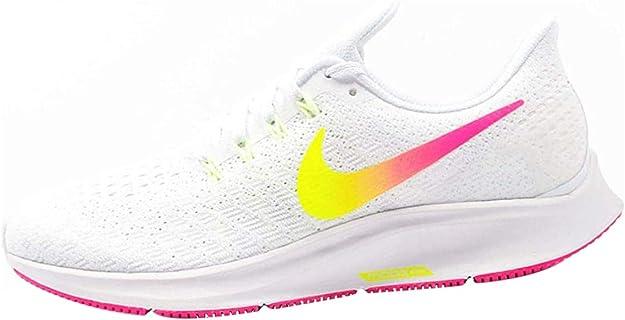 Nike Wmns Air Zoom Pegasus 35, Zapatillas de Atletismo para Mujer, Multicolor (White/Hyper Pink/Volt/Pure Platinum 000), 40 EU: Amazon.es: Zapatos y complementos