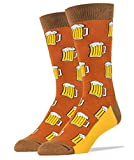 Oooh Yeah Men's Luxury Combed Cotton Crew Socks-Funny-Beer Me ,size 10/13