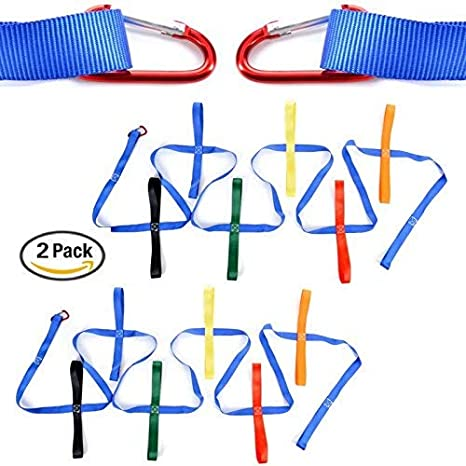 12 Colorful handles Keeps Kids Safe Perfect for Daycare Schools and Teachers. Walking Rope For Preschool