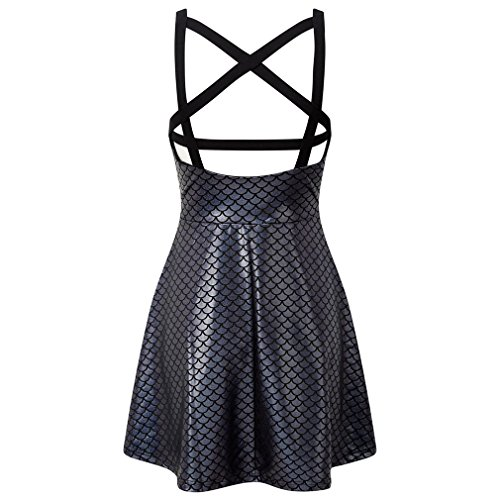 Women's Killstar Skater Silber silver Dress Silber dxAxqw7U