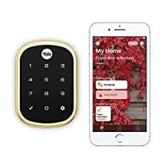 Lock and unlock your home without the hassle of keys - enter your 4-8 digit entry code on the touchscreen keypad, use the Apple Home app or simply ask Siri! You'll never need to share a key again, simply create unique entry codes for friends ...