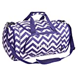 MOSISO Water Resistant Gym Sports Dance Travel Weekender Duffel Bag with Shoe Compartment, Chevron Purple Review