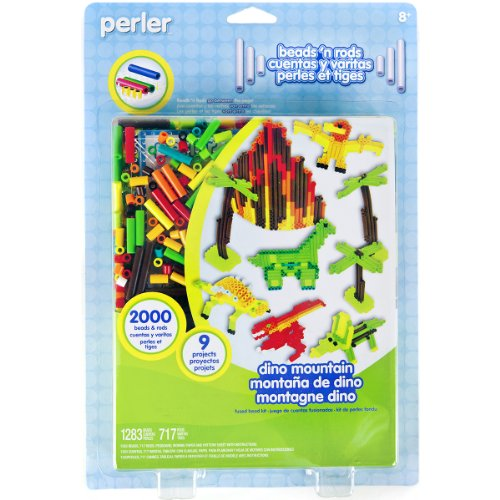 Perler Beads Fused Bead Kit, Dino Mountain