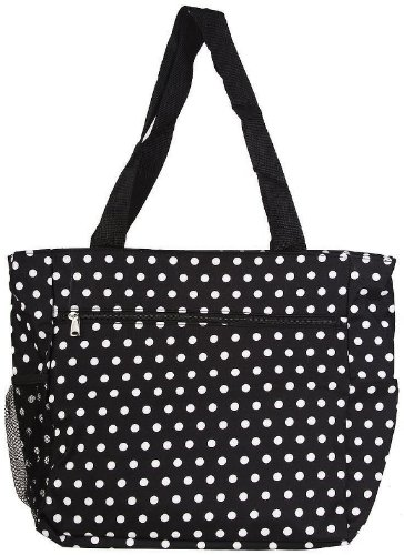 (Womens Large Polka Dot Beach Tote Weekender School Gym Travel Bag)