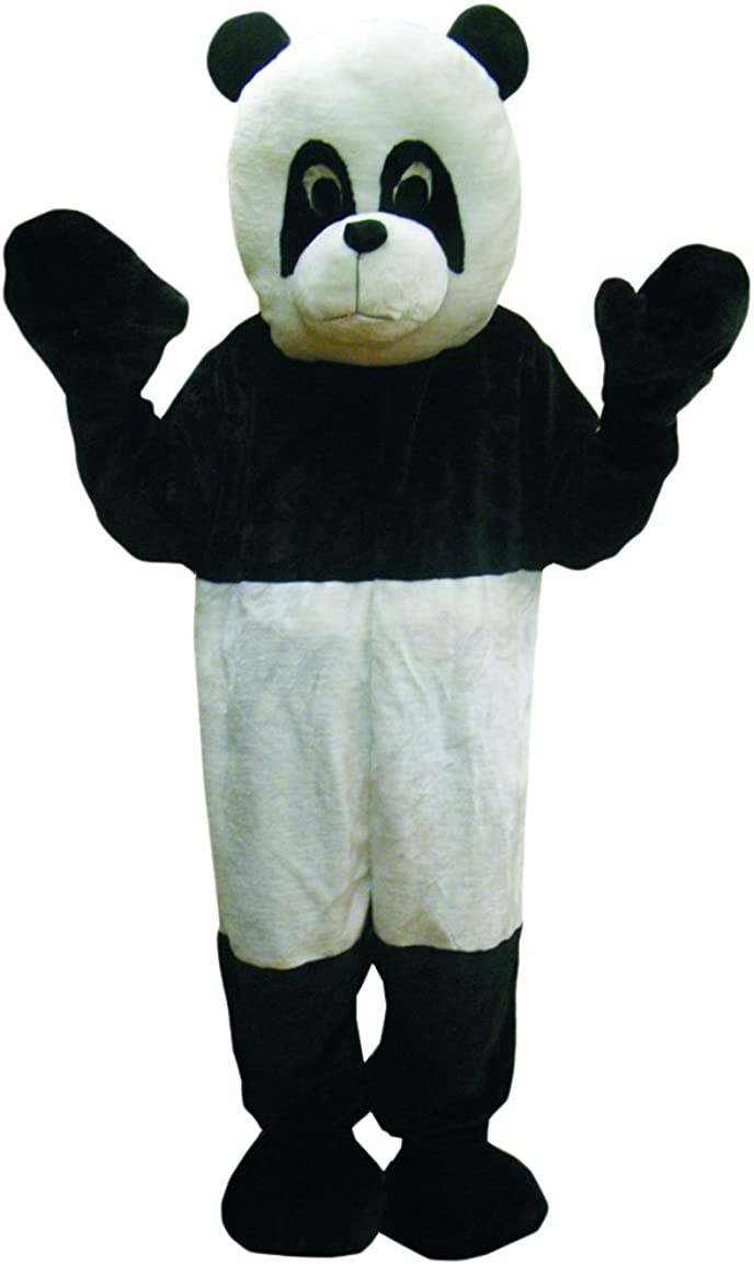 Adult Panda Costume Plush Furry Deluxe Bear Cosplay Animal Mascot Fast Ship