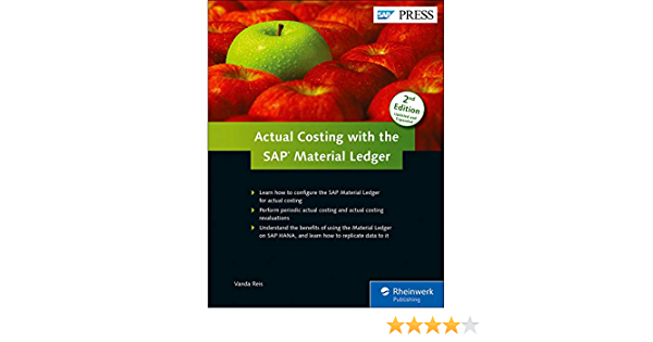 Amazon Com Actual Costing With The Material Ledger In Sap Erp Sap Press 9781493212453 Vanda Reis Books