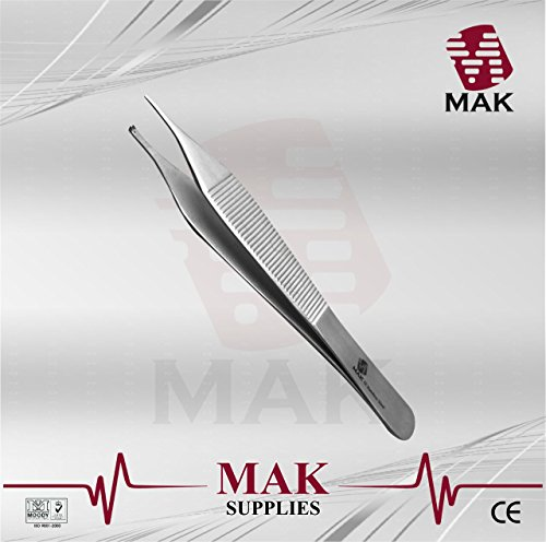 Forceps Toothed (Dressing & Tissue Forceps Adson 12cm Serrated / Kocher 1:2 Toothed Fine Quality)