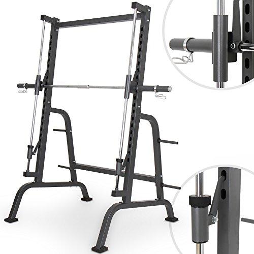 Physionics Fitnessgerät für Kniebeugen mit Hantelablage Multipresse, maximale Belastung ca. 250 kg