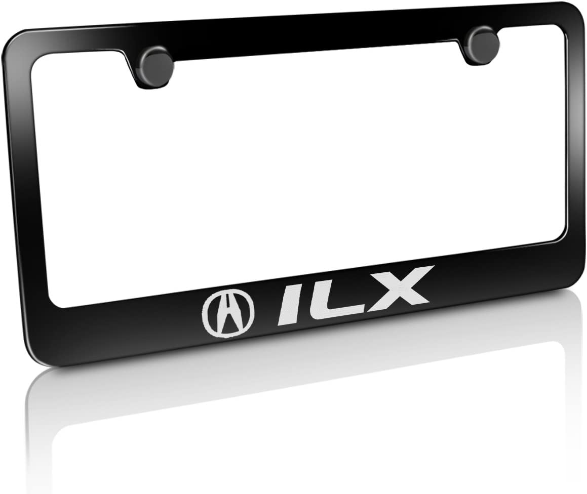 Acura Ilx Mirroed Chrome Stainless Steel License Plate Frame