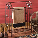 Black Forest Decor Metal Lone Star Rustic Quilt Rack - Southwestern Furniture