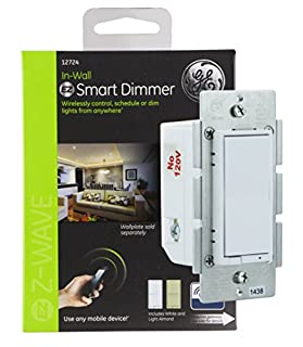JAS12724 - GE 12724 Z-Wave(R) in-Wall CFL-LED Dimmer Switch (B006LQFHN2) | Amazon price tracker / tracking, Amazon price history charts, Amazon price watches, Amazon price drop alerts