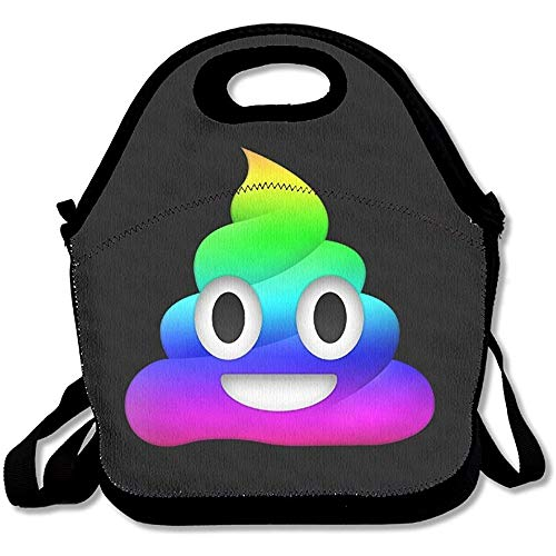 Poop Expression Lunch Bag Tote Handbag Lunch Boxes Adults, Kids, Girls -