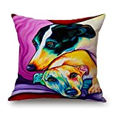 slimmingpiggy dog pillow shams 16 x 16 inches / 40 by 40 cm gift or decor for dance room,dinning room,lounge,girls,couch,gf - twin sides