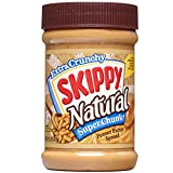 SKIPPY SUPER CHUNK Peanut Butter Spread - Natural - Chunky - Crunchy - 15 Ounce (Pack of 6)