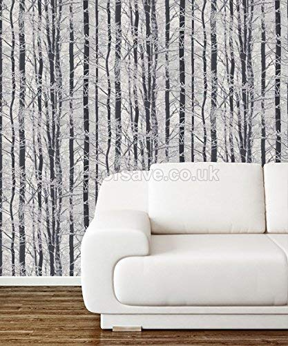Arthouse 670200 Frosted Wood Silver Wallpaper