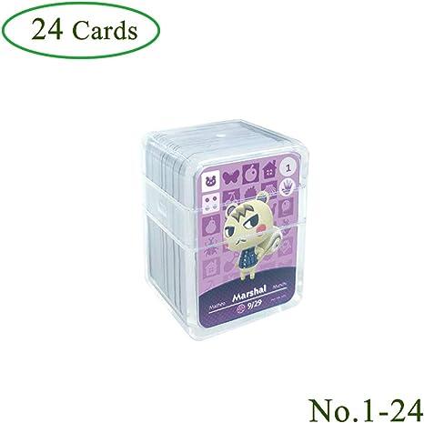 Tarjetas de juego NFC Tag para Animal Crossing, 24 piezas (No. 1-No. 24) Tarjetas de juego Nfc con estuche de cristal Compatible con Nintendo Switch / Wii U: Amazon.es: Videojuegos