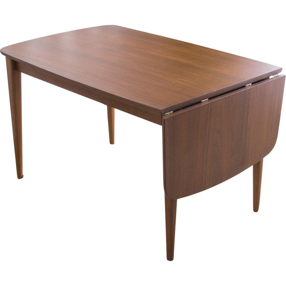 アイリスプラザ ダイニングテーブル バタフライ伸長式 ウォールナット 幅120-160cm コリド CRD120TBLWN 7126740 B07BD9TPN8ウォールナット