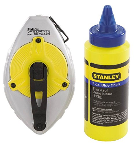 (Stanley 47-482L 100-Foot FatMax Xtreme Chalk Box with 4 oz. Blue Chalk)
