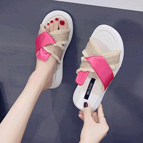 Chaussons Pantoufles Plage Chaussures Sport Décontracté de de Durable de 5 antidérapantes 6 Dames d'été Taille TTqrH