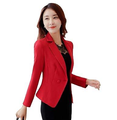 VITryst - Chaqueta de Traje - para Mujer Rojo Rosso US Medium ...