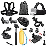 TEKCAM Sport Action Camera Accessories Kit Compatible with Gopro Hero 7 AKASO EK7000 Brave 4 V50 Crosstour Campark 4K Outdoor Waterproof Camera
