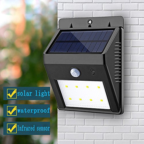 Solar Powered Outdoor Wall Lights 8LEDs Solar Light SMD2835 LED Power Motion Sensor Wall Light Garden Lamp
