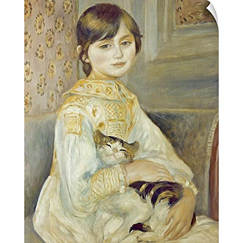(CANVAS ON DEMAND Julie Manet with Cat, 1887