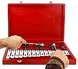 Glockenspiel Xylophone 25-Note Chromatic Glockenspiel in Wooden Case