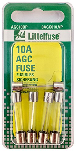 Littelfuse AGC10BP AGC Series Glass Body Cartridge Fuse - Pack of 5 (Fuses Series Glass Agc)