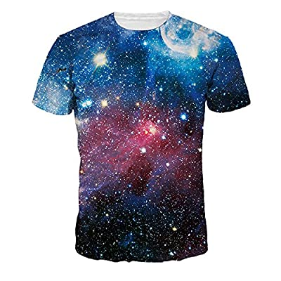 JIAYIQI Colorful 3D Cartoon Printed Short Sleeve T-Shirt Fashion Couple Tees