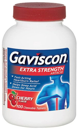 - Gaviscon Tablets Extra Strength Cherry Flavor 100 Tablets ( Pack of 4)