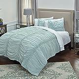 Rizzy Home QLTBT3000BX001692 Quilt, Salt Blue, King