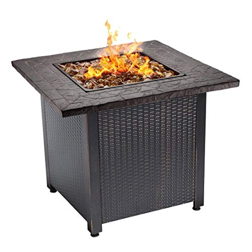 Endless Summer 30' Push Button Start All Weather Outdoor Patio LP Gas Fire Pit
