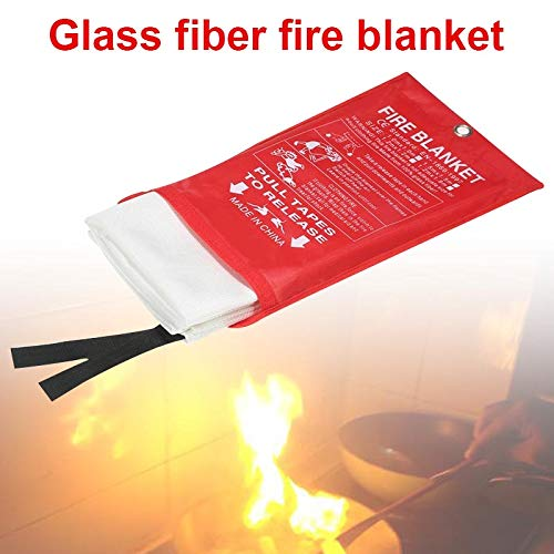 Foviza Fire Blanket Fiberglass Flame Retardant Emergency Survival Fire Shelter Safety Cover by Foviza (Image #1)