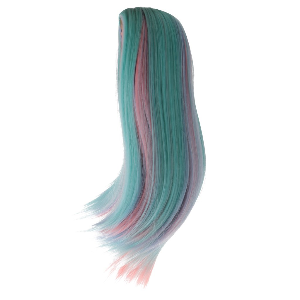 MagiDeal Multi-colored Long Straight Wig Hairpiece Wigs Hair for 18 Inch American Girl Doll Accessories