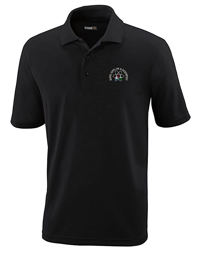Speedy Pros Back Off! I'm A Scientist Embroidery Polyester Performance Polo Shirt POLOPLG0525B_BS