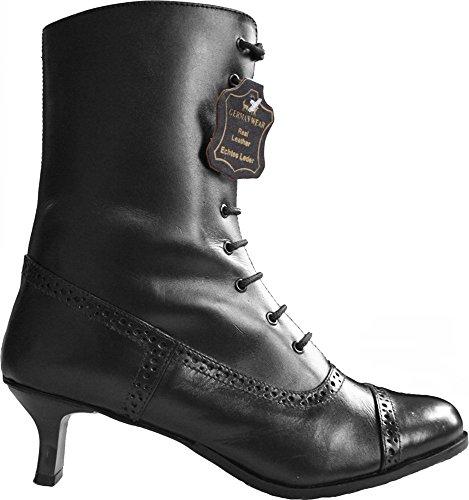 Preto Lederhosen De Por Botas Lutar Sapatos Traje Liso Senhoras E Couro Dirndl 7PfB4vWwq