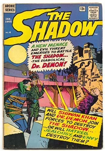 (The Shadow #4 1965- Shiwan Khan- Dr Demon- Archie comics VG)