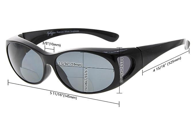 c2d2a91ef9 Eyekepper gafas de sol bifocales polarizadas para usar sobre gafas Lente  polarizada de policarbonato Fitover sunshine readers (Tortuga/Marrón  Lenses, ...