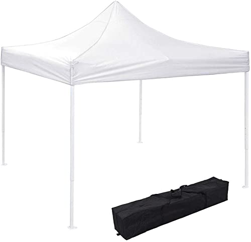 Instahibit 10×10 EZ Pop Up Canopy Tent Outdoor Party Instant Shelter Portable Folding Canopy with Carry Bag, White
