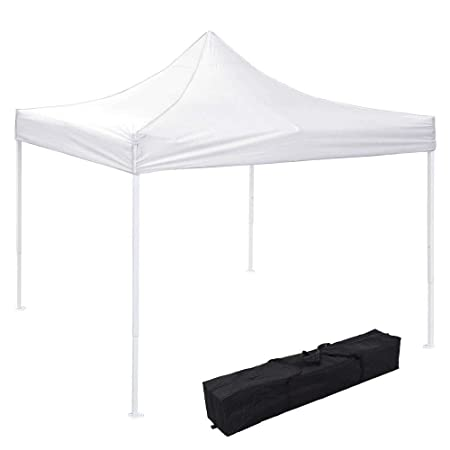 I Instahibit 10×10 EZ Pop Up Canopy Tent Outdoor Party Instant Shelter Portable Folding Canopy with Carry Bag, White