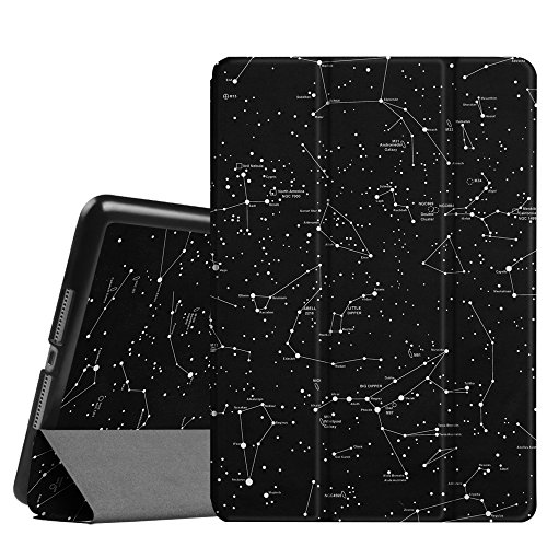 "Price comparison product image Fintie iPad 9.7 Inch 2017 Case - Lightweight Slim Shell Standing Cover with Auto Wake / Sleep Feature for Apple iPad 9.7"" 2017 Release Tablet, Constellation"
