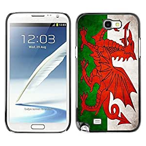 Shell-Star ( National Flag Series-Welsh ) Snap On Hard Protective Case For Samsung Galaxy Note 2 II / N7100