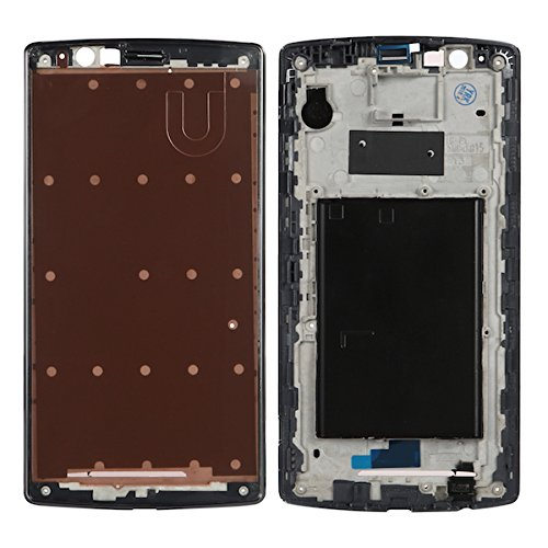 BisLinks New Black Faceplate Bezel Front Housing Frame Part + Adhesive for LG G4 H815